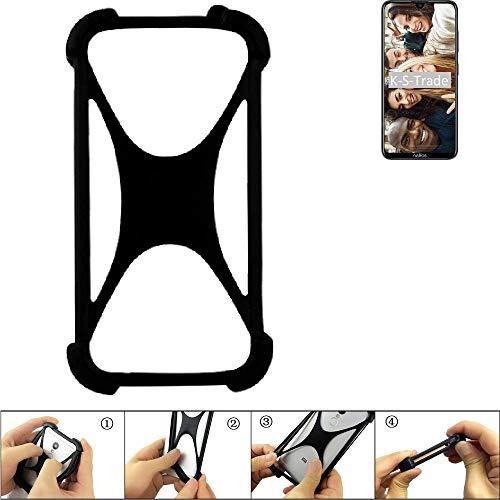 K-S-Trade® Handyhülle Für -TP-LINK Neffos X20 Pro- Schutz Hülle Silikon Bumper Cover Case Silikoncase TPU Softcase Schutzhülle Smartphone Stoßschutz, Schwarz (1x),