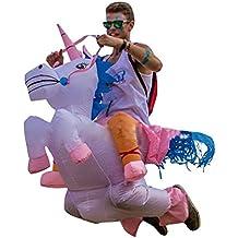 THEE Disfraces Inflable de Unicornio Traje Hinchable para Halloween