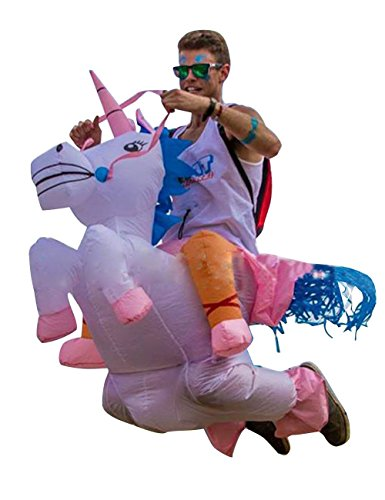 THEE Disfraces Inflable de Unicornio Traje Hinchable para Halloween