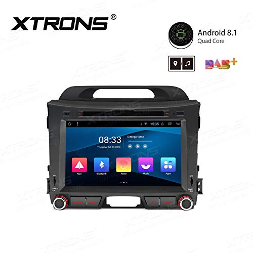 "Xtrons - 8"" Android 8.1 with Full RCA Output In-Dash GPS Navigation Multimedia System Custom Fit for KIA"