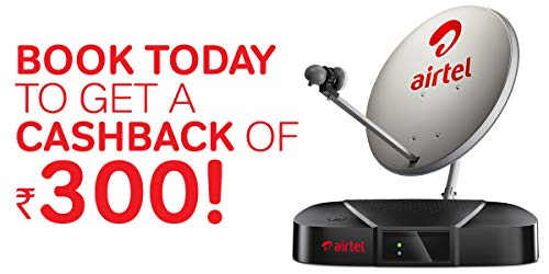 Airtel Digital TV HD Set Top Box with 1 Month Value Lite HD Pack & 300 Cash Back