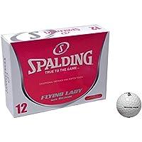 Spalding Flying - Bolas de Golf para Mujer, Color Blanco