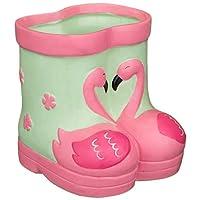 Z&Q BROS LTD Fabulous Decorative Feature Kids Ceramic Welly Planter Flowers Pot Garden Ornament -Flamingo