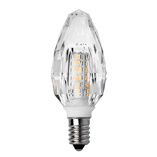prosperveil E14AC 220–240V 7W LED Kerze Lampe Mais Kristall Lampe Licht für Kronleuchter Ww