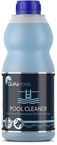 GUAa POOL Poolreiniger ohne Chlor für Schwimmbecken, flüssig - chlorfreier Oberflächen- und Randreiniger POOL CLEANER 1 L