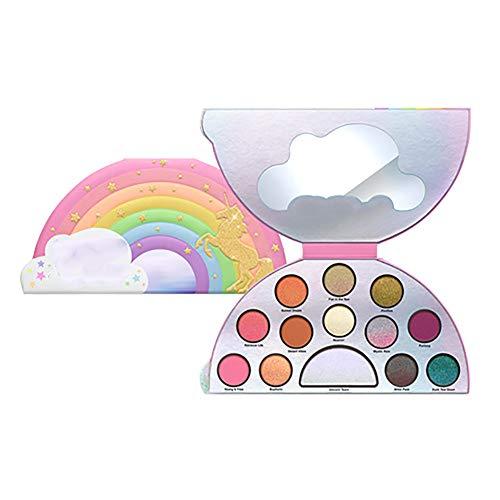 13 colores sombra de ojos bandeja brillo ojo sombra láser unicornio arco iris semicírculo brillo ojos Sombra paleta perla colores polvo sombras cosmética maquillaje herramientas