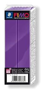 Staedtler 8041-6. Pasta para modelar Fimo Professional. Caja con 1 Pastilla de Color Lila de 454 Gramos.