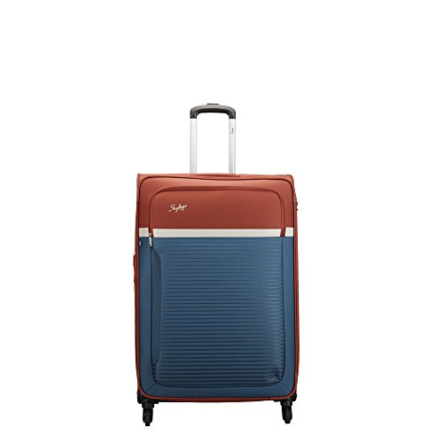 Skybags Glitz Polyester 81 cms Blue Softsided Check-in Luggage (STGLIW80DBL)