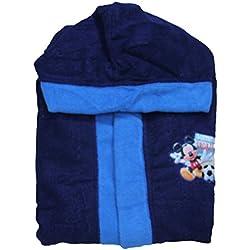 Peignoir enfant disney mickey mouse mickey mouse capuche et ceinture en vie blu-celeste 98-104 cm