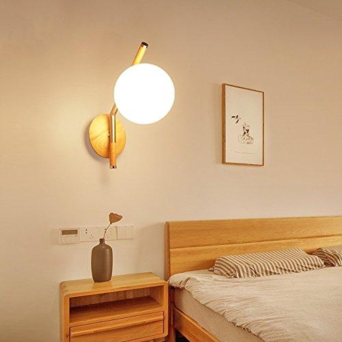 Lámpara de Pared posmoderna Bola de Cristal nórdica Simple Lampshaped para el Estudio del Dormitorio Lado de la Cama balcón Personalidad Creativa LED Lámpara de Pared Accesorios de iluminación