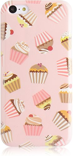 JAMMYLIZARD | Coque rigide à motifs Cupcakes pour iPhone 5C, Menthe-chocolat CARAMEL
