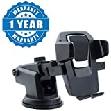 Captcha Car Mobile Phone Holder Sucker Silicone Base Free Rotation Mobile Holder/Car Mount Long Neck 360° Rotation Compatible With Xiaomi, Lenovo, Apple, Samsung, Sony, Oppo, Gionee, Vivo Smartphones (One Year Warranty)