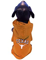 NCAA Texas Longhorns Cotton Lycra Hooded Dog Shirt, X-Small by All Star Dogs