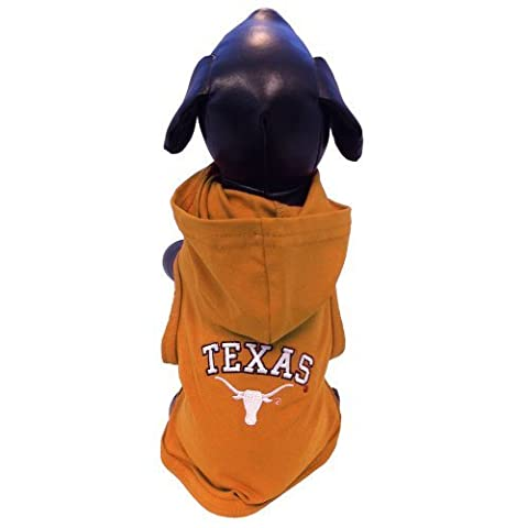 NCAA Texas Longhorns Baumwolle Lycra mit Kapuze Hund Shirt XXL, Orange/Weiß von All Star Hunde