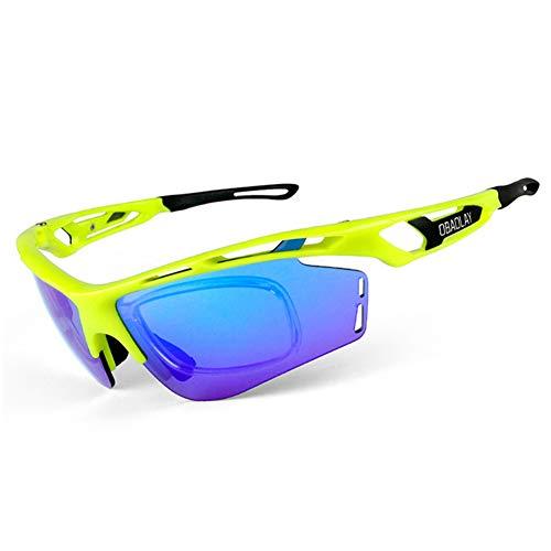 LIJJY Reitbrille Polarisierte Outdoor-Reitbrille, Herren- und Damen-Radbrillen, Myopie-Brillen,Green