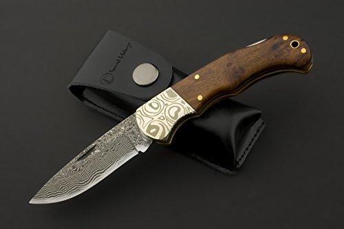 Izumi Ichiago Imbuia-Damast - Taschenmesser aus Japanischem Damaststahl