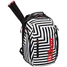 WILSON Super Tour Backpack Bold Black/White Mochila Negro - Blanco