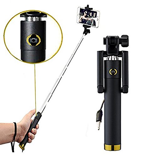 BriteNOVA ® Selfie Stick with Wire/Aux Cable (No Bluetooth or...
