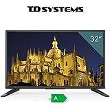 """TV HD TDSystems 32"""" Pulgadas HD K32DLT6H (Resolución 1366x768/ HDMI 3/ VGA 1/ Eur 1/ USB Reproductor y Grabador) Televisores HD"""