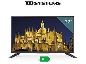 TDSystems TV HD 32 « pouces HD K32DLT6H (résolution 1366x768 / HDMI 3 / VGA 1 / Eur Lecteur 1 / USB et enregistreur) téléviseurs HD