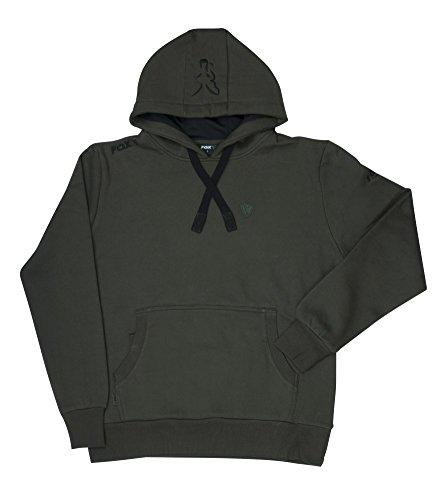 Fox Green Black Hoodie - Angelpullover, Hoody, Kapuzenpullover zum Angeln, Anglerpullover, Pullover für Angler, Größe:L