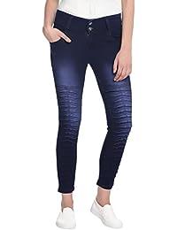 Broadstar Women Denim Dark Blue Jeans