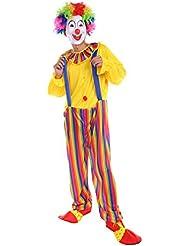 NiSeng Mono de payaso adultos Fiesta de Payasos Carnaval Cosplay clásico juego de rol rayas Fancy Dress disfraces para mujer
