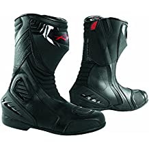 Botas Piel Moto Profesional Transpirable Calzado Motocicleta Honda Negro 42