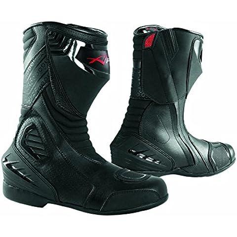 Botas Piel Moto Profesional Transpirable Calzado Motocicleta Honda Negro 43