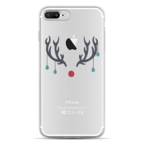 iPhone 8, iPhone 7 Hülle | JAMMYLIZARD Transparente Schutzhülle Gel Weihnachts-Sketch Back Cover Case aus Silikon, Deadpool GEWEIH