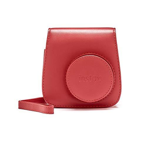 Instax Mini 90 Schutzhülle aus PU-Leder mit Tragegurt , rot (poppy red) , mini 9 Rote 9