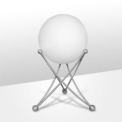 NEG Tischleuchte TavoPalloni (20,0cm Kugel-Durchmesser) Tischlampe aus Opalglas und Edelstahl von NEG - Lampenhans.de