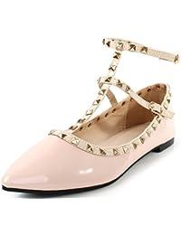 AgeeMi Shoes Mujer Bailarinas Hebilla Puntera en Punta verano Flats Zapatos