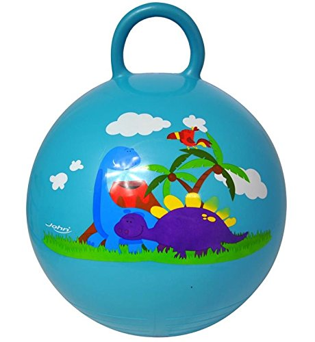 John, Kinder Huepfball Sprungball Hopser Ball Dino mit Hörnchen 45-50cm