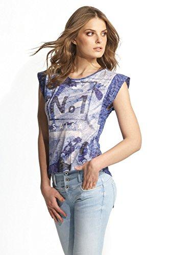 Salsa -  T-shirt - Casual - A barchetta  - Donna Blu