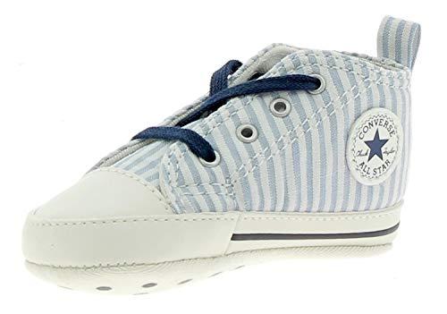 2d2a63b671c2 Converse Scarpe Neonato Ctas First Star Hi Bianco Blu  861011C-NAVY WHITE NAVY