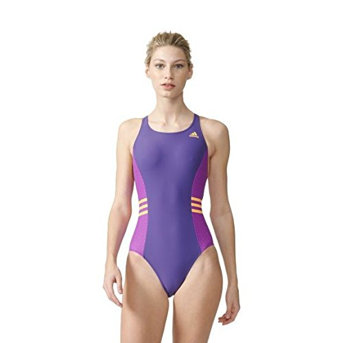 adidas Damen Inspiration Badeanzug, Unity Purple/Shock Purple/Solar Gold, 44