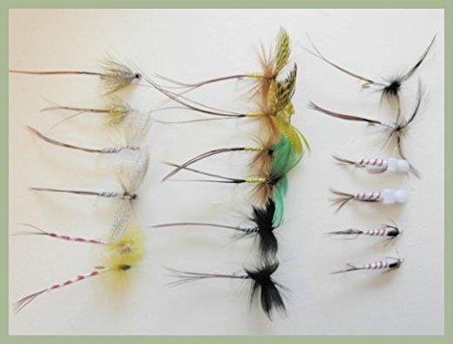 STX Mayfly-Angelfliegen, 18gemischte Fliegen, Maifliegen, Parachute, usw., Größe 10, Frühsaison