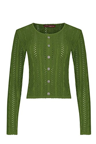 Lieblingsgwand Moser Trachten Trachten Strickjacke grün Lisa 002813, Material Baumwolle, Größe 36