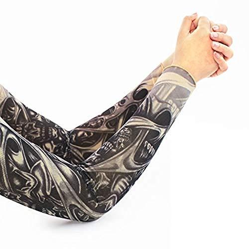 ELECTION Tattoo Ärmel Arm Tattoo Strumpf Arm Ice Silk Driving Sun Schutzhülle Nylon Tattoo Arm Tätowierung Armstulpen-Kit Arm Sonnenschutz Strümpfe Zubehör Für Unisex(Q.)