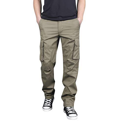 Herren Sommer Outdoor Mehrfach Overalls Gerade Sporthosen Outdoor Multi Pocket Overalls Armee grün schwarz grau M/L/XL/2XL/3XL