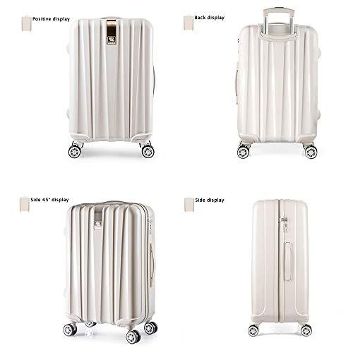 Moderner Koffer Koffer Superleichte PC-Hartschalen-Reisekoffer-Handgepäck-Koffer mit 4 Rädern - 360 ° -Drehungsrädern Koffer Travel Case - 3-stelliges Zahlenschloss