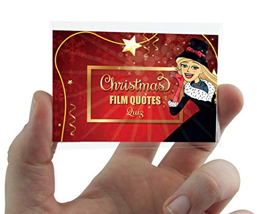 CHRISTMAS GAMES FILM MOVIE QUOTES - Pocket Game - Christmas Day Games - Christmas Eve Box - Stocking Fillers - Secret Santa Gifts - Christmas Games for families - Christmas Movie Quotes -