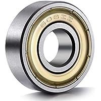 20 rodamientos de bolas ANCIRS, 608 ZZ, boble metal blindado, tamaño en miniatura, para monopatín (8mm x 22mm x 7mm)