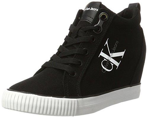 Calvin Klein Jeans Ritzy Canvas, Baskets Femme Noir (Black)