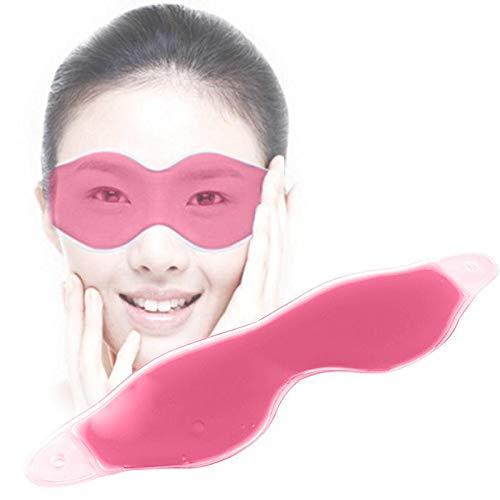 Eis Kompression Gel Silikon Augenmaske Unterstützenschlafen Augenpflege Augenmaske Brille Blind Gesundheit Reise Ruhe Augenmaske Schatten rot