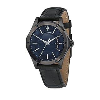 MASERATI Mens Analogue Quartz Watch with Leather Strap R8851127002 (B01N6ZV082) | Amazon price tracker / tracking, Amazon price history charts, Amazon price watches, Amazon price drop alerts