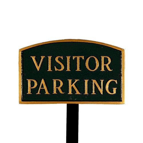 Montague Metall Produkte sp-19sm-hgg-ls klein Hunter Grün und Gold Visitor Parking Arch Statement Schild mit 23Rasendorn