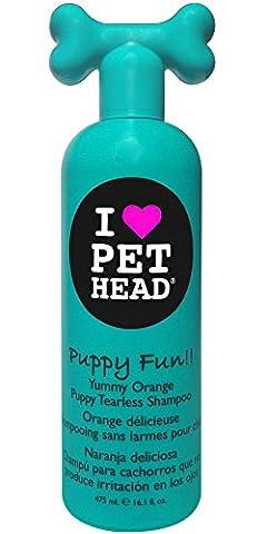 Pet Head Shampooing pour Chiots Puppy Fun Parfum Orange Délicieuse 475 ml