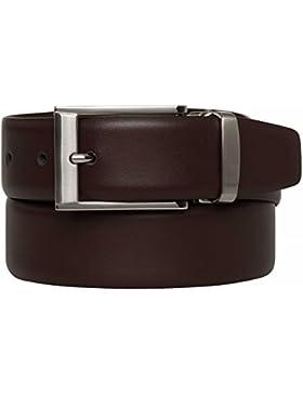 VANZETTI Cinturón de cuero Fabricado en Alemania Hombre